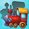 Baby puzzles match shapes icon