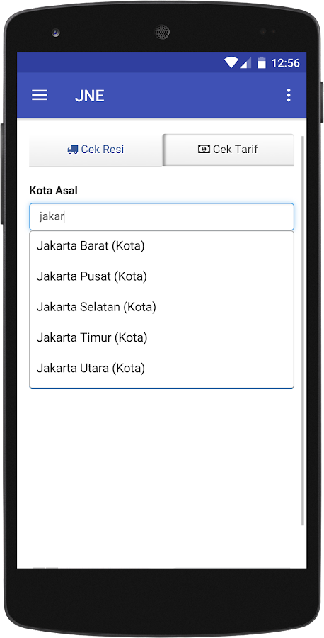 Cek Resi dan Tarif- screenshot