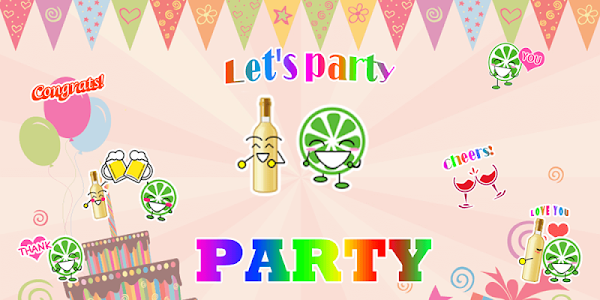 Party Sticker GIF Free screenshot 3