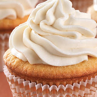 Ultra-Vanilla Cupcakes with Easy Vanilla Frosting.