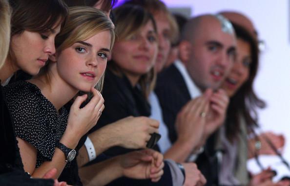 Emma Watson in a Chanel J12.