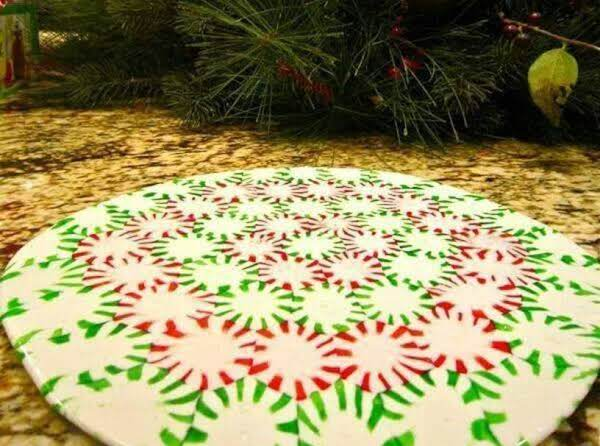 Christmas Center Piece Or Cookie Serving Tray