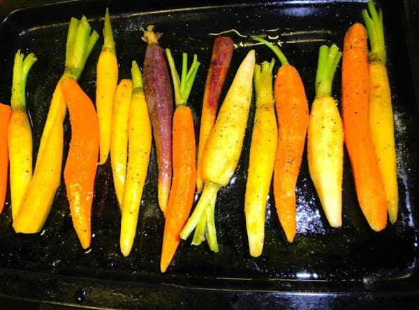 preheat oven to 375 degrees.  season veggies with olive oil, black pepper and...
