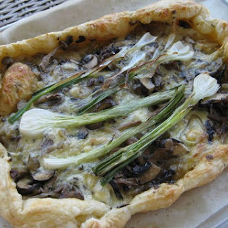 Wild Mushroom Onion Galette with Brie