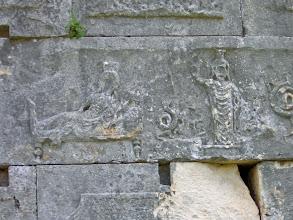 Photo: Andriake Granary, playful relief carved by one of the guards .......... Tijdverdrijf van een van de opzichters van de Graanopslagruimte.