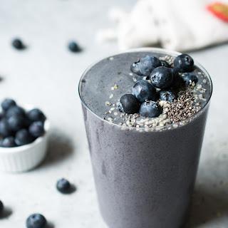 Wild Blueberry Zucchini Smoothie.