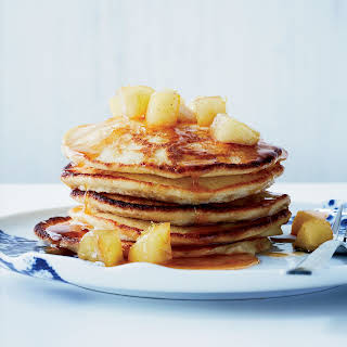 Lemon-Ricotta Pancakes with Caramelized Apples.