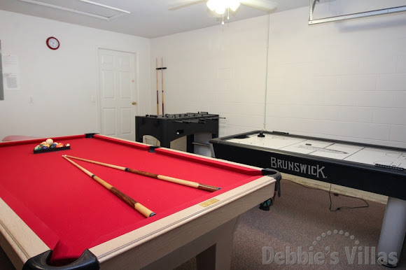 Well-equipped games room