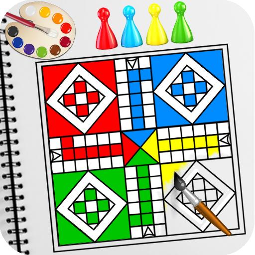 Coloring Book: Ludo Coloring Game