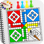 Coloring Book: Ludo Coloring Game