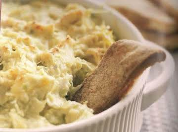 Warm Artichoke Dip with Scallions and Jalapenos