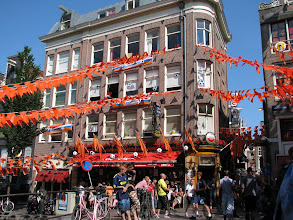 Photo: Amsterdam was in full soccer glory. In anticipation of Netherlands-Slovakia.