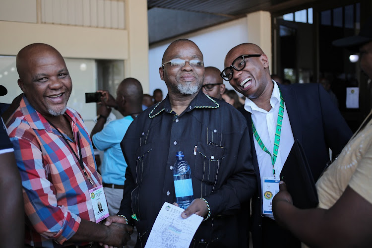 FILE PICTURE: Gwede Mantashe and Zizi Kodwa give their last press conference as Secretary General and National spokesperson of the ANC at the National ANC Elective Conference in Nasrec, Johannesburg.