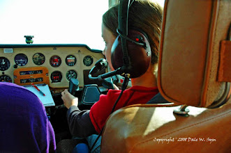 Photo: Her first flight lessons, now children getting their license......friend of mine daughter.