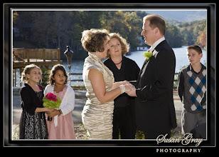 Photo: Lake Lanier Tea House Wedding - 11/10 - Landrum, SC - Wedding Officiant, Marriage Minister, Notary, Justice Peace - Brenda Owen - http://www.WeddingWoman.net