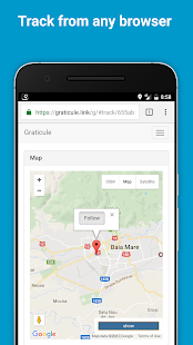 Graticule - simple real-time location sharing app- screenshot thumbnail