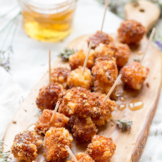 Fried Manchego Cheese with Lavender Honey.