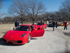 Photo: Driver change. F430, 360 Spyder, AM Vantage convertible, Lambo Gallardo