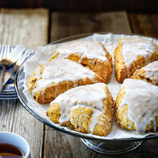 Pumpkin Scones with Maple Icing.