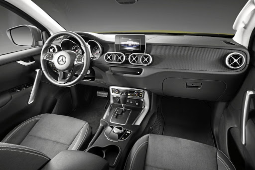 The interior blends Mercedes style with utilitarian practicality. Picture: DAIMLER