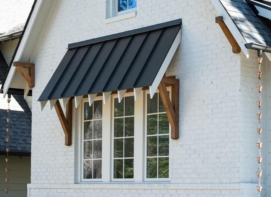 Lợp mái hiên bảo vệ cửa sổ