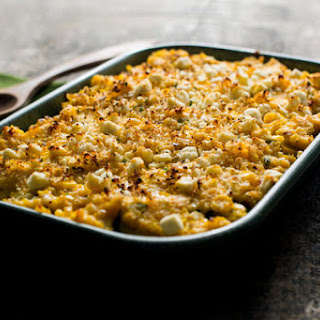 Refried Black or Pinto Bean, Zucchini and Corn Gratin