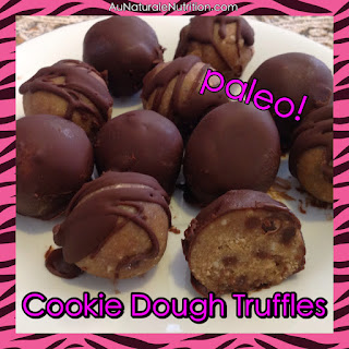 Chocolate Chip Cookie Dough Truffles (with flavor variations)