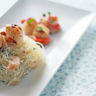 Vermicelli Salad with Scallops.