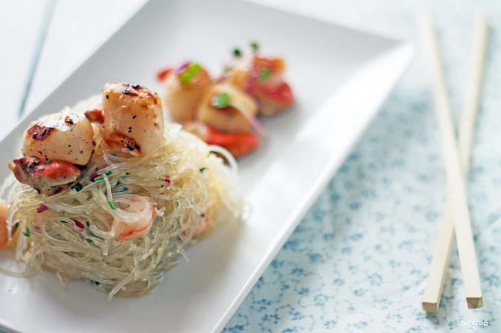 Vermicelli Salad with Scallops