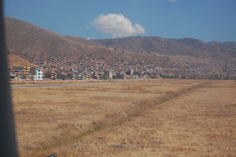 Photo: We land in Cusco. The altitude here is about 11,000 ft. Coming here directly from sea level is an invitation to altitude sickness.