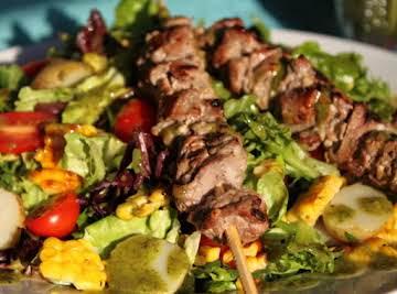 Steak and Sweet Corn Salad with Basil Vinaigrette