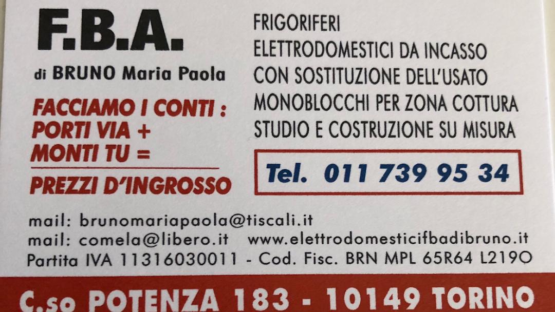 Elettrodomestici Da Incasso Torino.Fba Di Bruno Elettrodomestici E Da Incasso Negozio Di