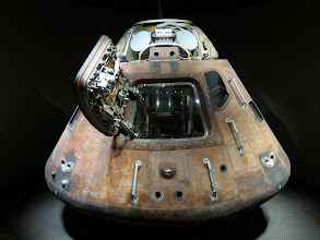 Photo: The actual recovery module from Apollo 8 or 11, at Kennedy Space Center.