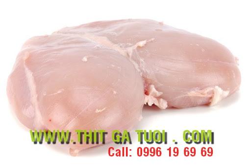 - Ức gà phile (thịt gà file không xương, có da, không da)