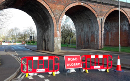 Don't drive down flooded closed roads plea from police