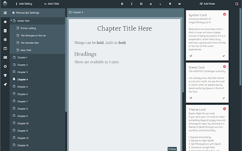 Wavemaker Novel Writing Software for PC / Windows 7, 8, 10