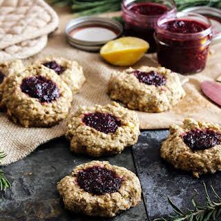 Whole Grain Thumbprint Cookies.
