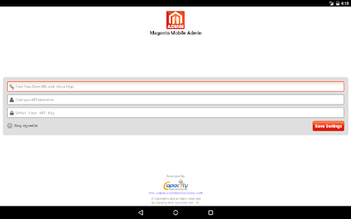 Magento Admin- screenshot thumbnail