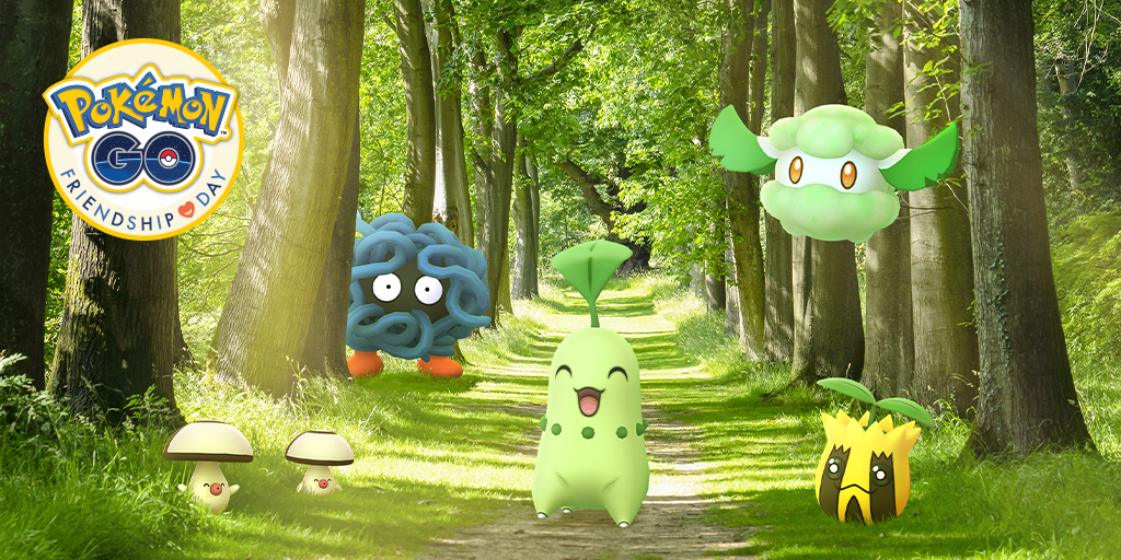Catch Pokémon with your friends during Friendship Day!
