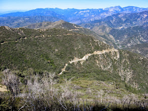 Photo: View west toward Glendora Ridge Road (below) and 2N07, the route I hiked to get here