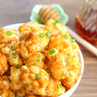 Roasted Honey Garlic Cauliflower.