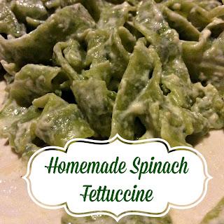 Spinach Fettuccine Pasta #Recipe