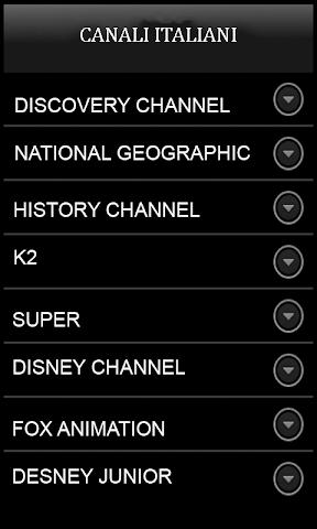 android Sky TV italienne Mediaset Rai Screenshot 3