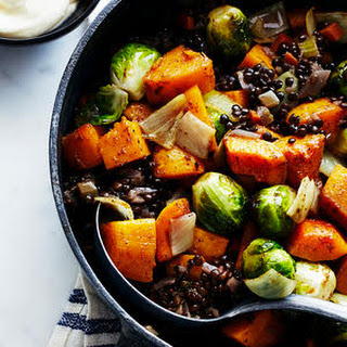 Roasted Fall Vegetables with Lentils and Fall Spices