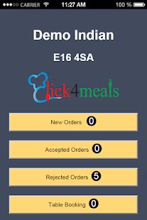 Click4Meals Partner - náhled