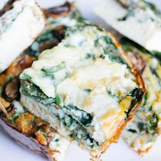 No Crust Spinach Mushroom Quiche