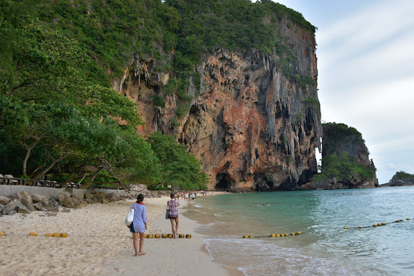 Walk at Phra Nang Cave Beach