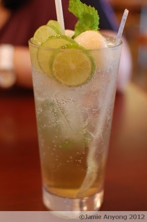lime drink with lychee