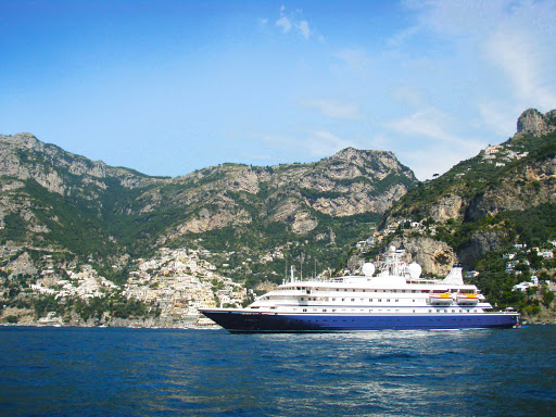 Seadream-positano2.jpg - Positano, Italy, is one of the lovely ports of call you can see on a SeaDream cruise.