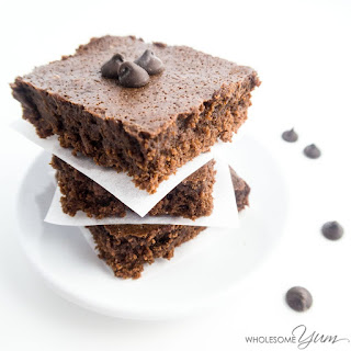 Fudgy Almond Butter Brownies (Paleo, Low Carb)